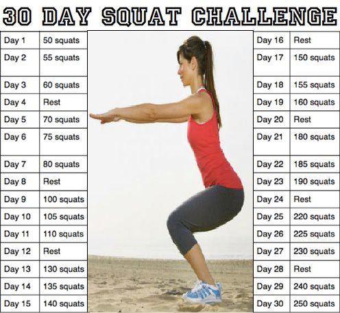 Verschillende squat oefeningen